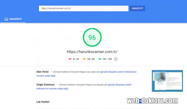 Özelleştirme harunkocaman.com .tr google.pagespeed